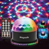 LifeGoods Roterende LED Discolamp met Afstandsbediening en Muziekgestuurd - Kinderen/Volwassenen