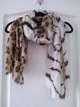 Sjaal Mila panterprint bruin beige