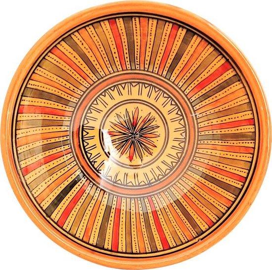 Handgemaakte en handbeschilderde authentieke Marokkaanse kom 20 cm
