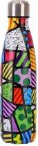 ZaCia Waterfles - Roestvrij Staal RVS  - 500ML - Gratis Afwasborstel - Drinkfles - Sport Thermos kan