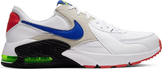 Nike Air Max Excee Heren Sneakers - White/Hyper Blue-Bright Cactus-Track Red - Maat 45
