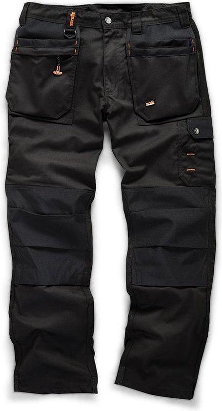 Scruffs Werkbroek 'Worker Plus', zwart maat 36S