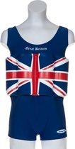 Beverly Kids UV drijfpakje Kinderen Great Britain - Blauw - Maat 104