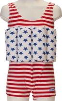 Beverly Kids UV drijfpakje Kinderen American Dream - Rood - Maat 92