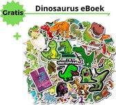 50 Dino Stickers - Bullet Journal Stickers - Bullet Journal Producten - Dinosaurussen Stickers - Dinosaurs - Dino Speelgoed - Dinosaurus Versiering - Dino Boek - Skateboard Stickers - 50 Stuks