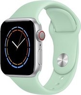 iWatch bandje – Beril – 42/44 mm – Turquoise – Apple Watch - Zachtgroen – Sportbandje – Beryl – S/M – Siliconen - Apple Watch Serie 3/2/1 – Apple Watch Serie 5/4