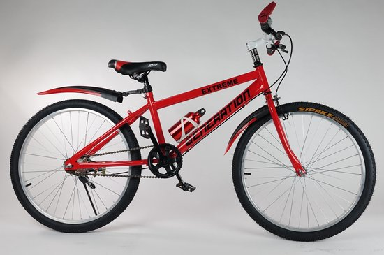 """Generation Extreme fiets 24"""" Rood"""