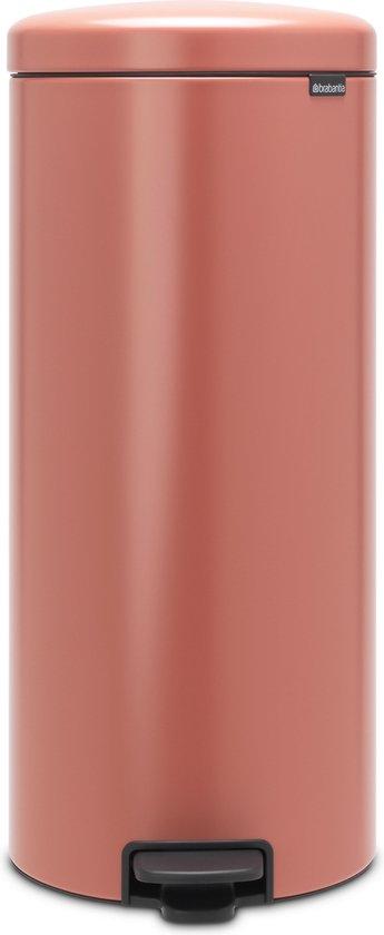 Brabantia newIcon Prullenbak - 30 l - Terracotta Pink
