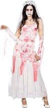 Feesten & Gelegenheden Kostuum | Vechtscheiding Zombie Bruid | Vrouw | Maat 46-48 | Halloween | Verkleedkleding