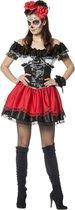 Spaans & Mexicaans Kostuum | Mexican Day Of The Dead | Vrouw | Maat 46 | Halloween | Verkleedkleding