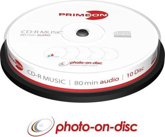 Primeon 2761111 CD-R 700MB 10stuk(s) lege cd
