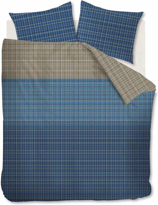 Beddinghouse Ingo Dekbedovertrek – Lits-jumeaux (240×200/220 Cm + 2 Slopen) – Katoen – Blauw