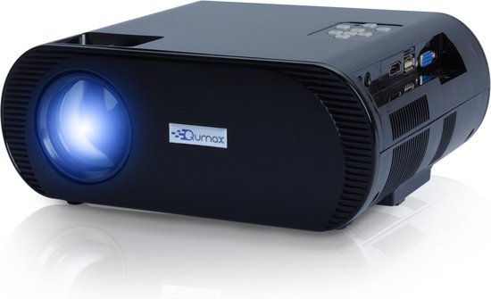 Qumax mini beamer met HDMI kabel - HD projector - Zwart