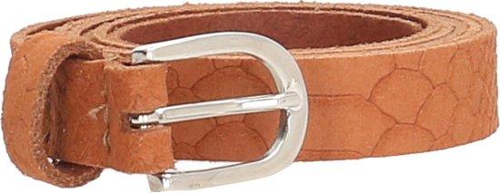 Old West BELTSNL Lederen Dames Riem – Snake – 2 cm – Cognac – maat 105
