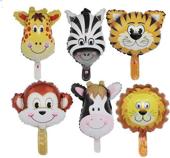 6x Folie ballonnen set herbruikbaar | Verjaardag | ballon | Dieren | Kinderfeestje balonnen | Te vullen met lucht of helium