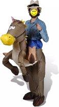 Opblaasbaar Cowboy en Paard kostuum