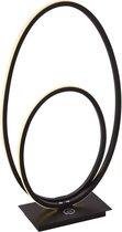 Freelight Tafellamp Ophelia zwart ovaal
