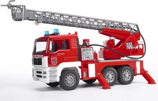 Bruder MAN Brandweerwagen met Draailadder - Speelgoedvoertuig