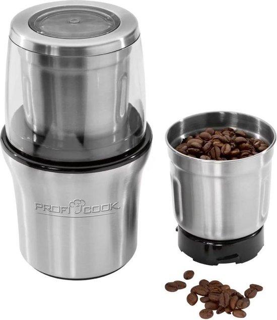 ProfiCook Elektrische Koffiemolen / Chopper 200 W Zilveren PC-KSW 1021