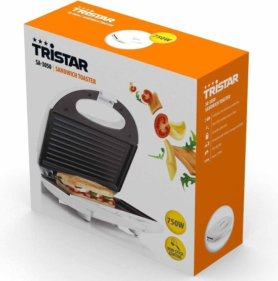 Tristar SA-3050 - Tosti ijzer - Wit