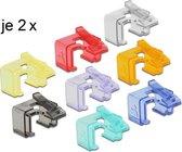 DeLOCK Starterskit met 16 reparatie clips voor RJ45 connectoren