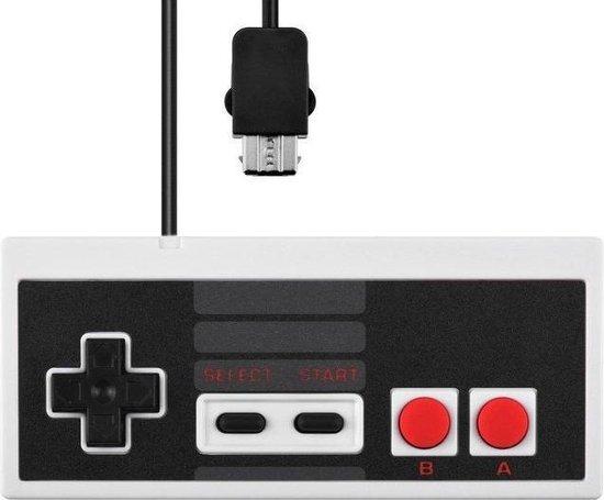Dolphix Controller voor Nintendo Classic Mini (Mini NES) / grijs/zwart - 1,8 meter