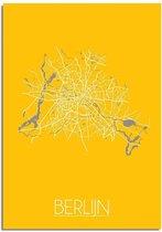 DesignClaud Berlijn Plattegrond poster Geel A3 poster (29,7x42 cm)