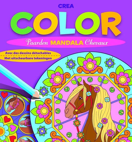 Crea color paarden mandala (met uitscheurbare tekeningen) - nvt  