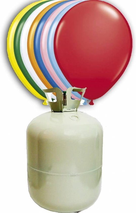Helium Tank met 30 ballonnen en lint