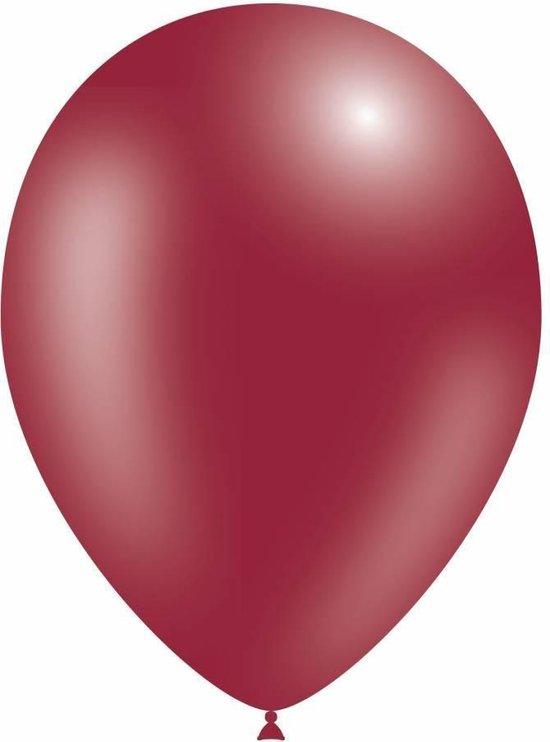 Bordeaux Rode Ballonnen Metallic - 10 stuks