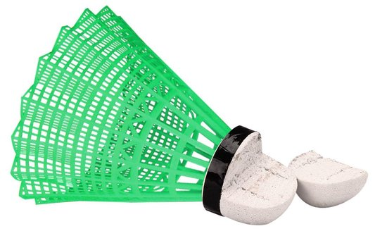 Avento Badminton Shuttles in Koker - Multi-kleur - 5 Stuks - Fluorgeel/Groen/Fluororanje/Fluorroze/Blauw