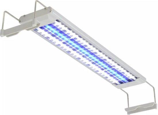 vidaXL Aquarium Led-lamp 50-60 cm - Aliminium - IP67