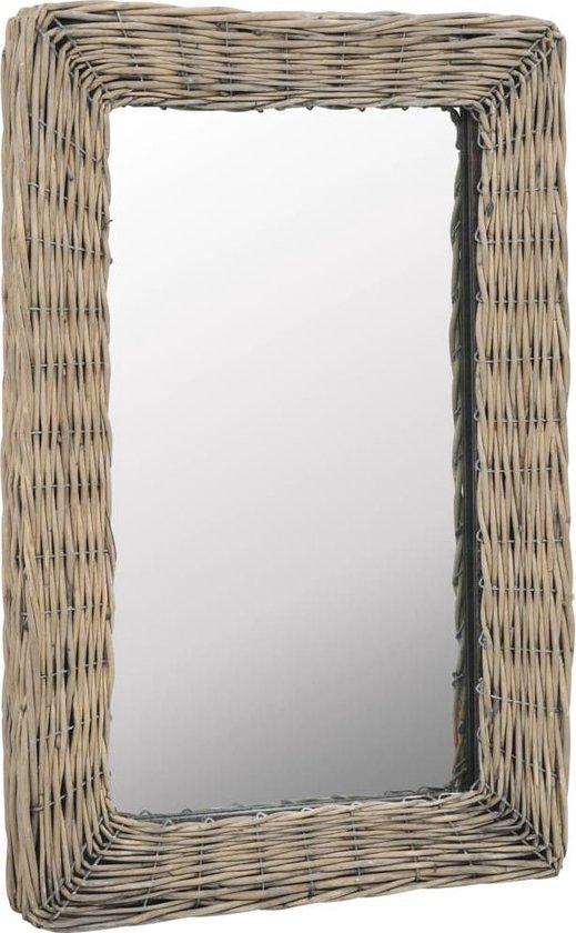 vidaXL Spiegel 40x60 cm riet bruin