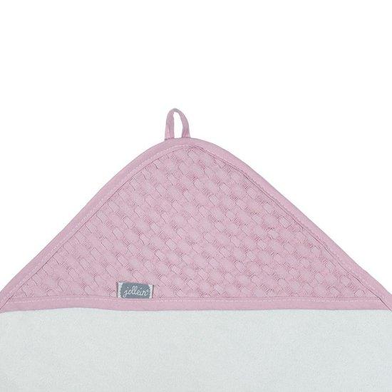 Jollein Waffle - Badcape 75x75 cm - Roze