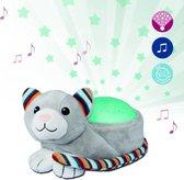 Zazu - Kiki de Kat - Luxe plafonprojector met verschillende soorten muziek en huilsensor - De Projector bevat 3 mooie kleuren om een prachtige sterrenhemel te creeeren!
