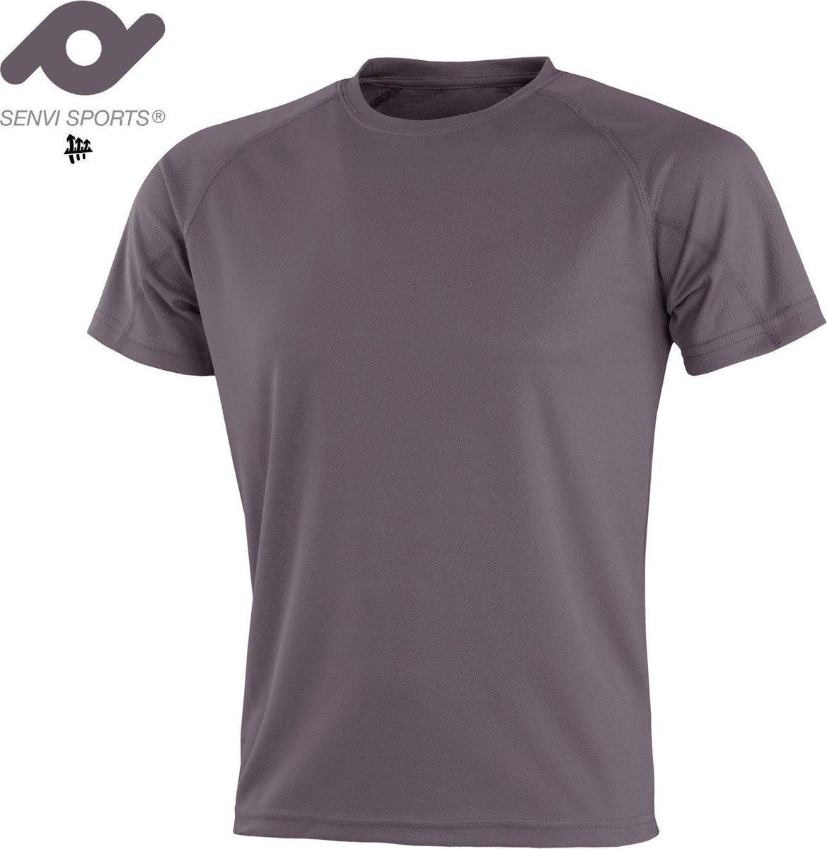 Senvi Sports Performance T-Shirt - Grijs - 3XL - Unisex