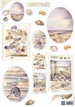 Hobby wenskaartenpakket - Marianne Design decoupage x1 Mattie mooiste sea 1 - 10 stuk