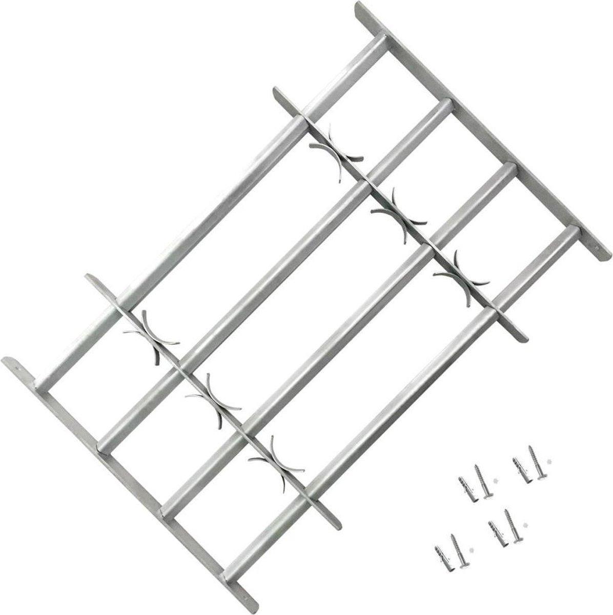 vidaXL Raambeveiliging verstelbaar met 4 dwarsstangen 500-650 mm
