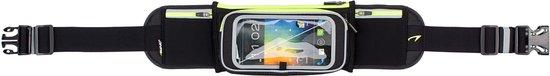 Avento Smartphone Sport Riem - Flip-Up - Zwart/Fluorgeel/Zilver