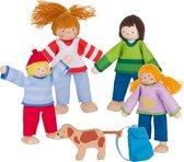 Goki Houten Buigpoppenset Campingfamilie 6-delig