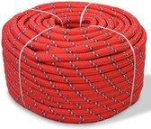 vidaXL Boot touw 10 mm 50 m polypropyleen rood