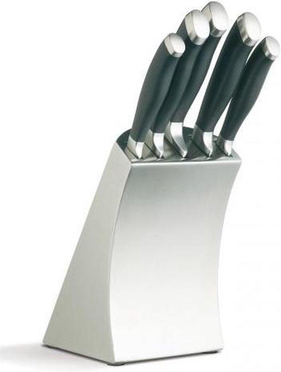 MasterClass Trojan 5-Delig Keuken Messenset inclusief RVS Messenblok - KitchenCraft