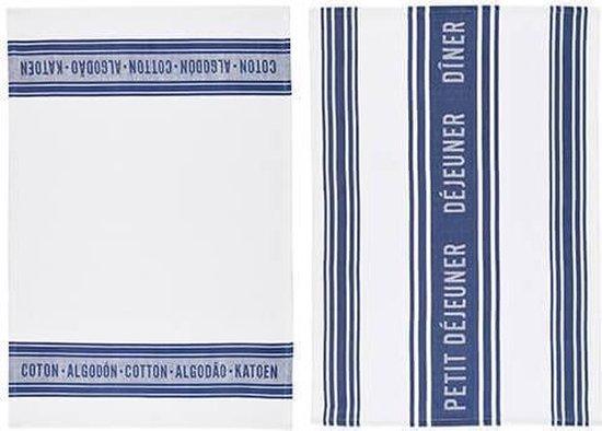 Theedoeken Blauw - Katoen - Set van 2 - 70x47cm - KitchenCraft