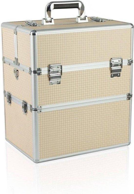 Koffer groot Beautycase   Beige - Nagelstyliste - MEGA BEAUTY SHOP®