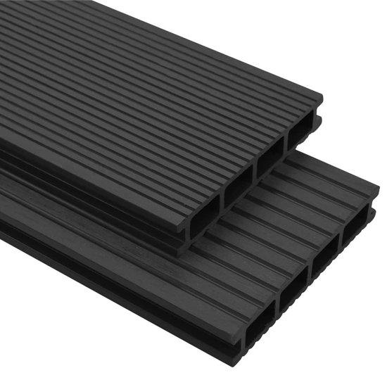 vidaXL Terrasplanken HKC met accessoires 10 m² 2.2 m antraciet