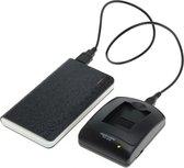 Huismerk Powerpakket: mini USB oplader + 8000mAh Powerbank voor Samsung SLB-10A en Samsung SLB-11A