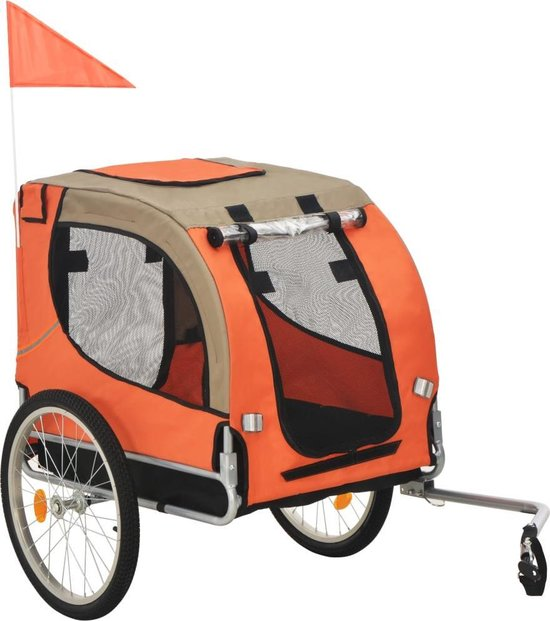 vidaXL Hondenfietskar oranje en bruin