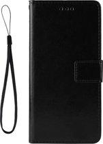 Mobigear Retro Texture Luxe Wallet Hoesje Zwart Motorola Moto One Vision
