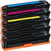 PlatinumSerie® 5 toner alternatief voor HP CB540A CB541A CB542A CB543A 125 black cyaan magenta yellow XL
