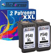 Tito-Express PlatinumSerie 2x Canon PG-540 XL Zwart inktcartridge alternatief voor Canon PG-540 XL black